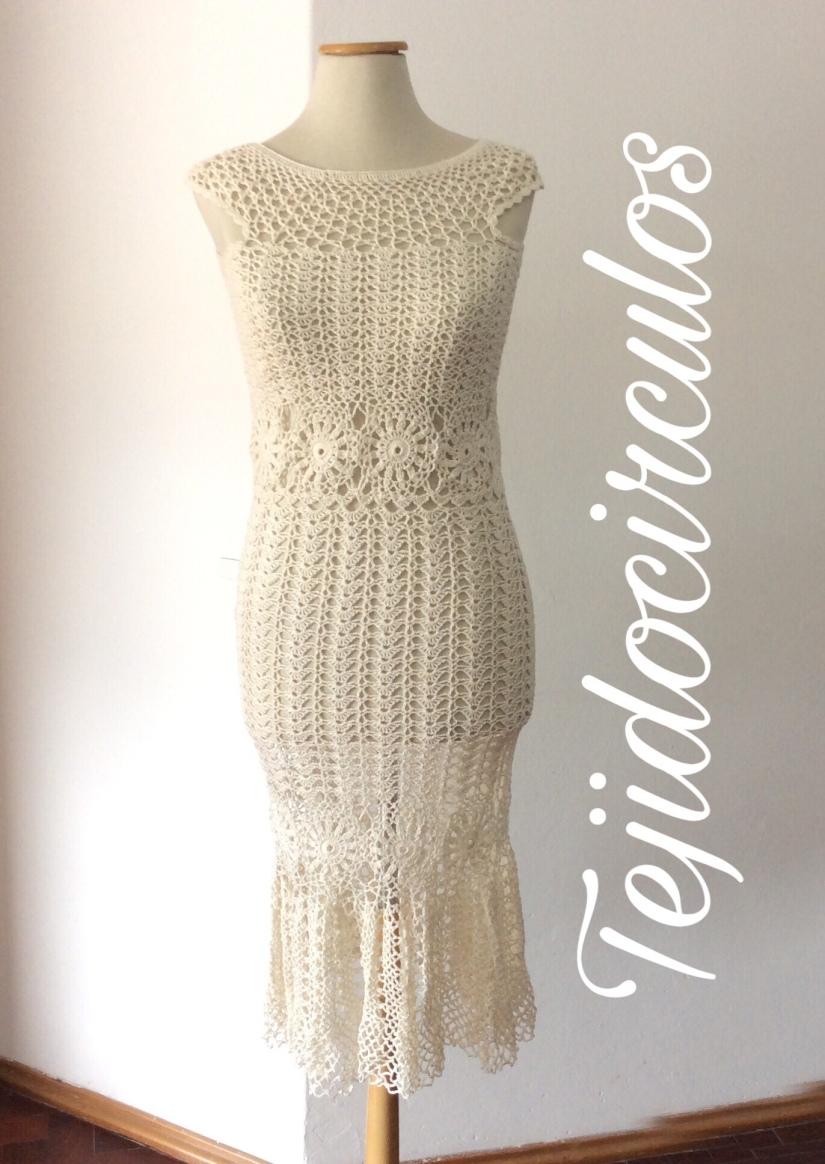 "Tutorial crochet: Vestido de boda tejido paso a paso ""Sirena ..."