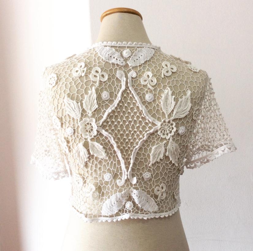 Bolero para boda o casamiento en crochet irlandés – Tejidos Circulos ...